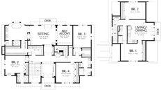 Colonial Style House Plan - 6 Beds 5 Baths 5180 Sq/Ft Plan #48-151 Upper Floor Plan - Houseplans.com