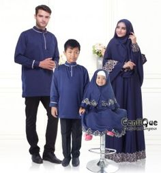 Jual-Baju Keluarga-Sarimbit Keluarga-Syari-Lebaran-Nyaman untuk Ibu Menyusui-www.geraicantique.com-08567254038-CantiQue-CQ 1611 family-biru dongker