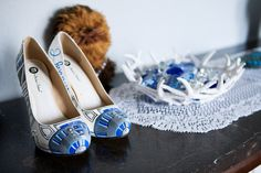 star wars at your wedding! R2D2 shoes