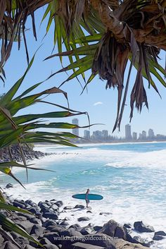 This photo is taken from Burleigh Beach, you can see Surfers Paradise in the bak ground, Gold Coast - Australia
