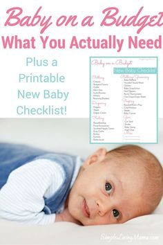 Find out what you really need when having a new baby! Plus, snag the free New Baby Checklist! New Baby Checklist, Toddler Bedtime, Baby On A Budget, Baby Planning, Preparing For Baby, Expecting Baby, All Family, Baby Hacks, Baby Tips