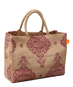 Take a look at this Berry Indian Jute Market Tote on zulily today!
