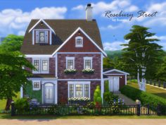 sims 4 Suanin's Rosebury Street (no CC) How Much Activity is Too Much? Sims 4 House Plans, Sims 4 House Building, Sims 4 Family, Sims 4 House Design, Casas The Sims 4, Suburban House, Sims 4 Build, Victorian Terrace, House Blueprints