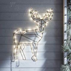 Tesco direct: Geometric Reindeer with Warm White Micro Lights