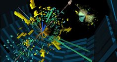 This visualization of the ATLAS experiment shows an event possibly containing a Higgs boson produced in combination with two top quarks, one of many new processes scientists are looking for. Credit CERN