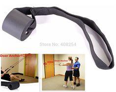 Altas bandas de resistencia o de una puerta de la espuma correa de anclaje de entrenamiento de ejercicios adjunto D ring Gym Fitness System negro en Bandas de…