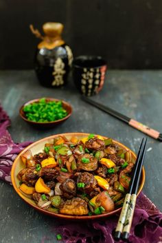 oriental crispy mushrooms is an Indo Chinese recipe where mushroom are coated in a batter and fried till crisp and then tossed in a spicy oriental sauce. #Asian #Recipe #Snacks #Appetiser #Food