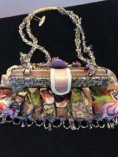 Mary Frances Multi Color Beads And Gemstones Handbag