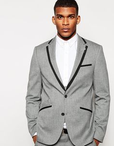 +ASOS+Slim+Fit+Suit+With+Tipping