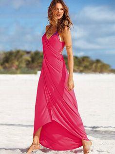 Vestido cover-up maxi con diseño cruzado #VictoriasSecret http://espanol.victoriassecret.com/sale/clothing/maxi-wrap-cover-up-dress?ProductID=101135=OLS?cm_mmc=pinterest-_-product-_-x-_-x