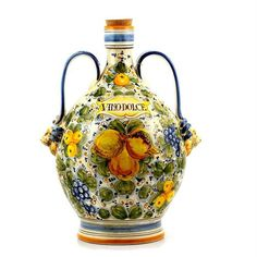 TUSCANIA - Artistica.com Decorative Objects, Decorative Pillows, Medieval Tapestry, Floral Vintage, Sweet Wine, Italian Pottery, Ceramic Painting, Ceramic Pottery, Colorful Interiors