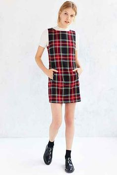 BB Dakota Harlow Plaid Shift Dress - Urban Outfitters