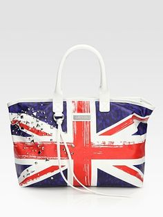 Jimmy Choo Studded Union Jack Print Denim Tote. Lovely bag I want to have while in London (: