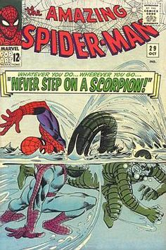 The Amazing Spider-Man (Marvel, Condition: FN/VF. Underwater cover featuring the Scorpion (his second - Available at Sunday Internet Comics Auction. Dc Comics, Marvel Comics Superheroes, Marvel Comic Books, Comic Book Heroes, Comic Books Art, Marvel Characters, Cartoon Characters, Silver Age Comics, Comic Book Artists