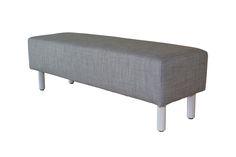 Banc de lit BEAUTY gris. Existe en bleu - BUT