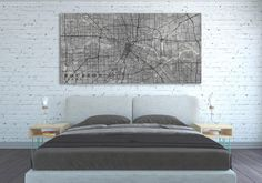 HOUSTON TX Canvas Print Houston Texas Tx Vintage map City | Etsy