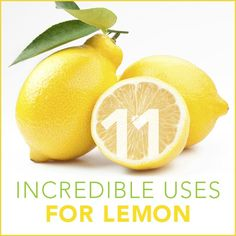 Lemons are amazing for your body, nails and skin … and amazing for around the house too! (P.S. Click on each of the tips below for even more aMAZING benefits of lemons!)