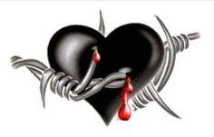 Broken Heart Drawings, Broken Heart Art, Broken Hearts Club, Cute Emoji Wallpaper, Heart Wallpaper, Angel Devil Tattoo, Demon Tattoo, Bleeding Heart Tattoo, Psycho Wallpaper