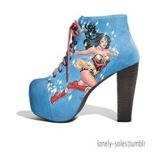 Wonder Woman- I would totally wear these:) lol Wonder Woman Shoes, Wonder Woman Comic, Wonder Women, Cute Shoes, Me Too Shoes, Awesome Shoes, Geeks, Fashion Shoes, Fashion Accessories