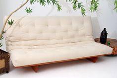 O futon casal modelo L mede 1,90m x 1,30m x 0,27m aberto como cama. Fechado como sofá mede 1,90m de largura x 1,10m de profundidade x 0,27m de altura