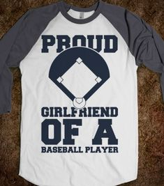Proud Baseball Girlfriend - sports - Skreened T-shirts, Organic Shirts, Hoodies, Kids Tees, Baby One-Pieces and Tote Bags