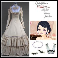 """Beautiful Long Victorian Fashion Dress for Sale"" by doris009 on Polyvore"