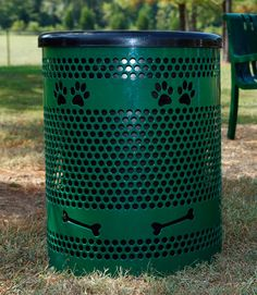 Tidy Up Trash Receptacle - Dog Themed https://www.byoplayground.com/dog-park