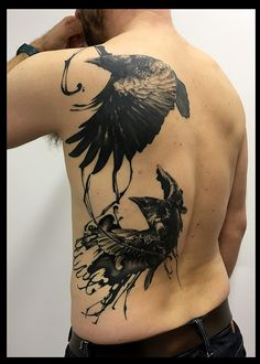 https://flic.kr/p/TayhM7 | Raven with brushstrokes | Japanese tattooer Magu. Specialized in original custom work. Large variety of styles possible : small tattoo or large tattoos, tribal tattoo, lettering tattoo, black and gray tattoo, realistic tattoo, japanese style tattoo... Conveniently situated in Zeist, Utrecht, granting easy access from Amsterdam, Rotterdam, The Hague, Eindhoven, Tilburg, Almere, Groningen, Breda, Nijmegen, Apeldoorn, Enschede, Haarlem, Arnhem, Amersfoort, Dordrecht…