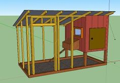 Step by Step Chicken Coop Plans for Beginners Backyard Chicken Coops, Chicken Coop Plans, Building A Chicken Coop, Chickens Backyard, Backyard Farming, Garden Tool Shed, Garden Tool Storage, Pet Chickens, Raising Chickens