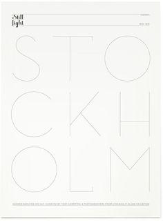 Typographic poster design by Klas Ernflo Typography Letters, Graphic Design Typography, Lettering Design, Poster Design, Print Design, Type Design, Web Design, Illustrations, Graphic Illustration