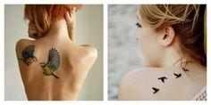 Foto tatuaggio uccellini simbolo di libertà