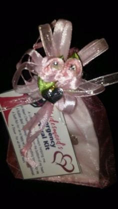 BRIDESMAIDS SURVIVAL KIT  WEDDING GIFT with a small heart charm #Unbranded