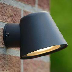 40€ | Anthracite LED outdoor wall light Dingo GU10 | Lights.ie