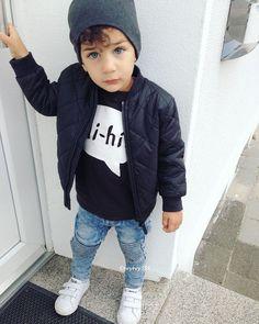 Coolio via babies baby boy fashion, kids fa Stylish Kids Fashion, Toddler Boy Fashion, Little Boy Fashion, Toddler Boy Outfits, Toddler Boys, Baby Kids, Girl Fashion, Fashion 2015, Fashion Kids