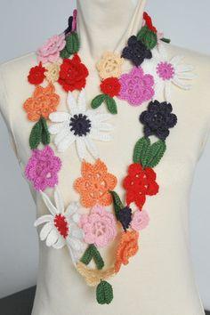 DAISY Crochet Multicolor Flowers Spring by jennysunny on Etsy