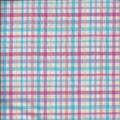 1970s Vintage Pastel Plaid Fabric in Poly Cotton Blend, 1 & 5/8 Yard Cut, 44 In., 5/16 In. Checks, Pink, Turquoise, Yellow, Peach, Lilac by VictorianWardrobe on Etsy