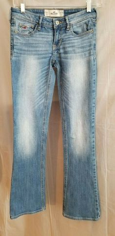 e1e10ef5 HOLLISTER Women's Jeans Light Wash Boot Cut Faded Size 24 #Hollister
