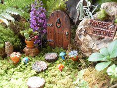 Fairy Door,Fairy Garden,Fairy Garden Kit,Fairy Door Kit,Fairy Door Set,Color Choices,Gardeners Gift,Fairy Garden Decor,Stone