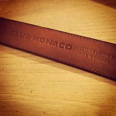 @ryanmcheung showing off his @ClubMonaco Made in Canada leather belt! #CMYouBoughtIt