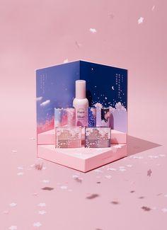 Etude House Sweet Endorser Cherry Blossom kit on Behance Etude House, Web Design, Layout Design, Graphic Design, Beauty Packaging, Brand Packaging, Cosmetic Packaging, Cosmetic Display, Cosmetic Design
