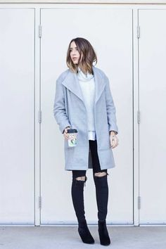 oversized grey coat,oversized grey coat outfit,oversized grey coat street style,oversized grey coat winter outfit, ho to wear an oversized grey coat