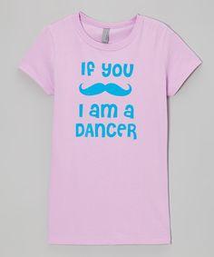Lilac 'If You Mustache I Am a Dancer' Tee - Girls