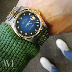 This #diamond dot #Rolex #Datejust has come out of the blue...
