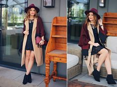 Get this look: http://lb.nu/look/7940480  More looks by Elena Sandor: http://lb.nu/eileen08  Items in this look:  Lulu Dress  Dress, Missguided Coat, Missguided Hat, Arezzo Boots, Russel And Bromley Bag   #bohemian #chic #romantic #boho #style #casual #elegant #winter #fashion