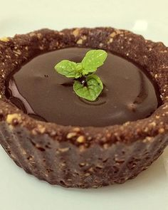 Tortinha de chocolate funcional (Foto: Fit Food Ideas)