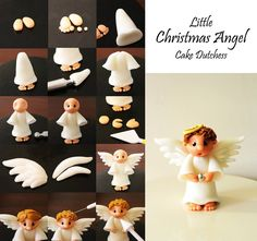Easy tutorial for an angel (fondant or clay)