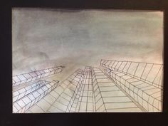 Perspective drawing, natural disaster theme