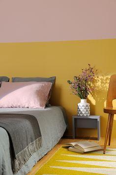 Accents exotiques #peinture #zolpan #chambre #jaune #rose | Maison ...