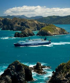 New Zealand - Across the Cook Strait between Wellington and Picton - best ferry ride in the world imho