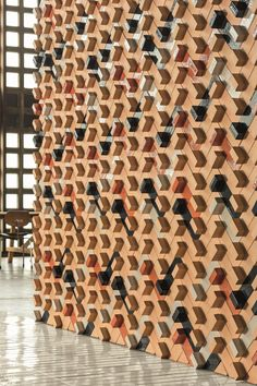 Terracotta 3D Wall Cladding TIERRAS ARTISANAL LITTLE L TIERRAS Collection by MUTINA | design Patricia Urquiola